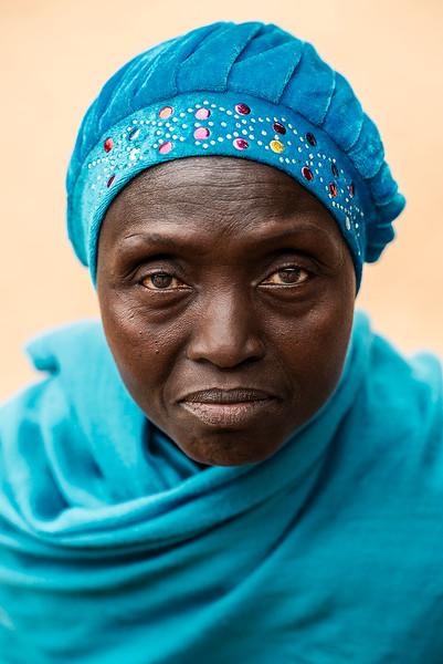 Portrait of a Jola woman.   Senegal, 2020
