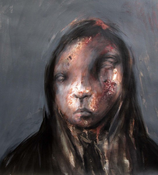 "Amin Rostamizadeh<br /> Acrylic on Canvas<br /> 14"" x 17""<br /> $600"