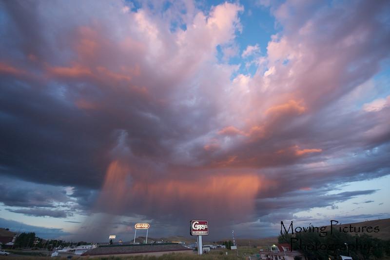 Virga over Rawlins, Wyoming