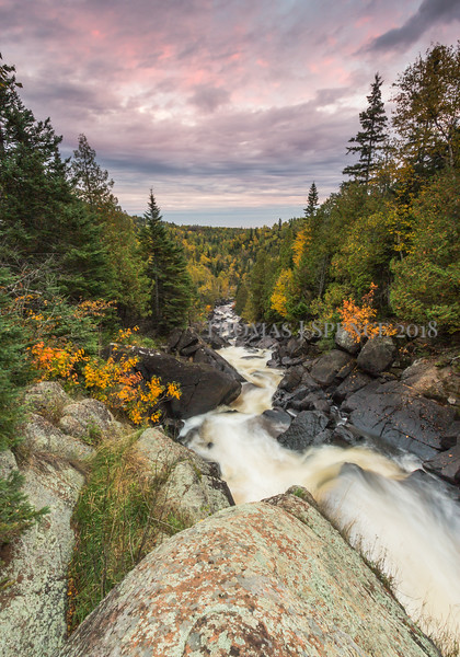 The Poplar River heading toward Lake Superior out in the distance.