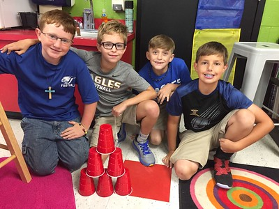 Team Building Cup Tower Project