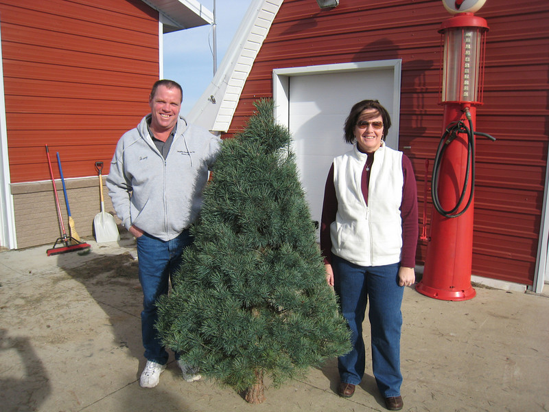 Jerry and Jan Brady, wishing Brandon was home to help celebrate Christmas.  Brandon received a tree in Afghanistan.