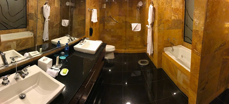 I could live in the bathroom!