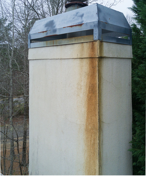 Chimney inspection above the 2nd story roof