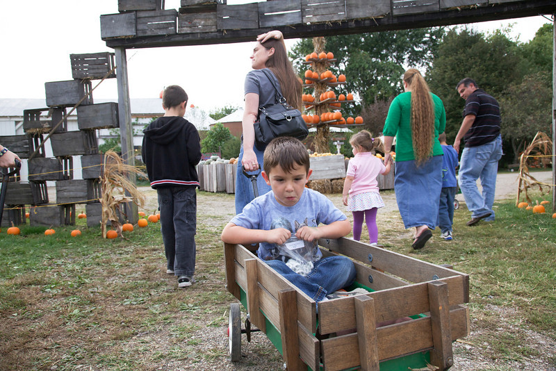 A family trip to the Great Pumpkin Patch in Arthur, Illinois on September 25, 2010.  (Jay Grabiec)