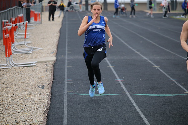 BHRV and Western Christian girls' track at Sheldon 4-15-19
