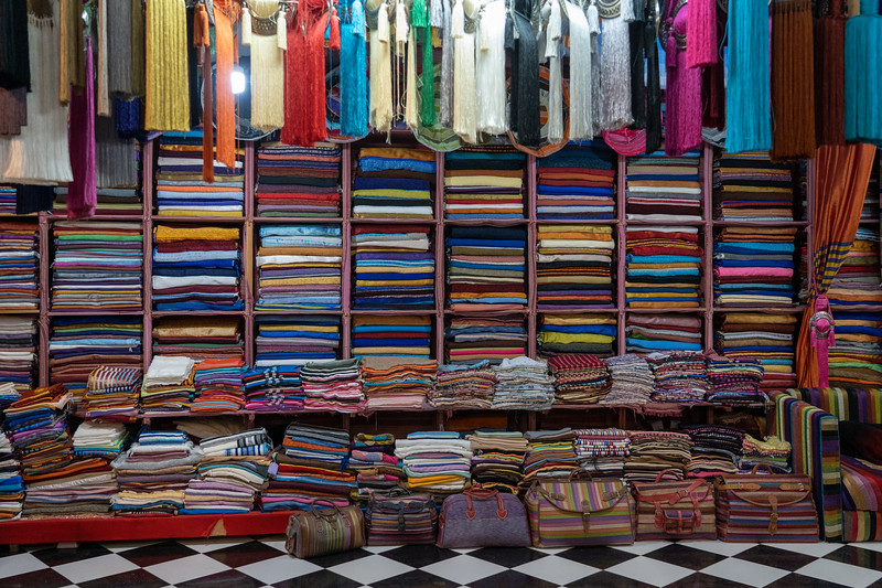 Scarves in Fes, Morocco