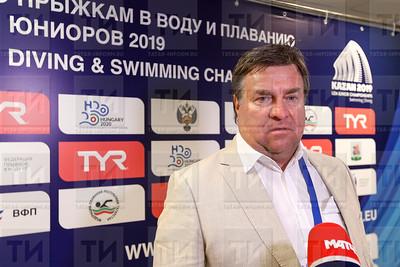 03.07.2019 - Пресс-подход первенства Европы по плаванию среди юниоров (Салават Камалетдинов)
