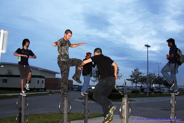 Boys Balancing