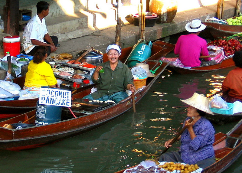 Thailand floating marketplace