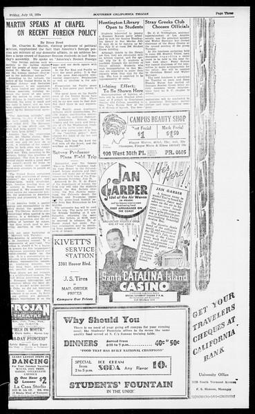 Southern California Trojan, Vol. 13, No. 8, July 13, 1934