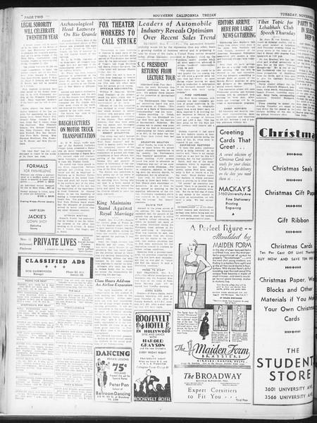 Daily Trojan, Vol. 23, No. 43, November 10, 1931