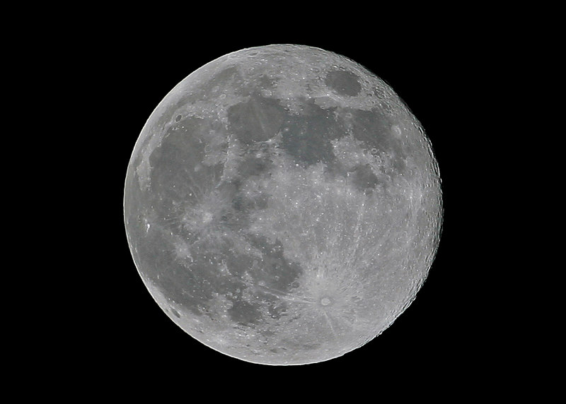 My version of the moon from my backyard with a 500mm