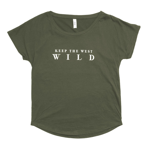 Organ Mountain Outfitters - Outdoor Apparel - Womens T-Shirt - Keep the West Wild Tee - Military Green.jpg