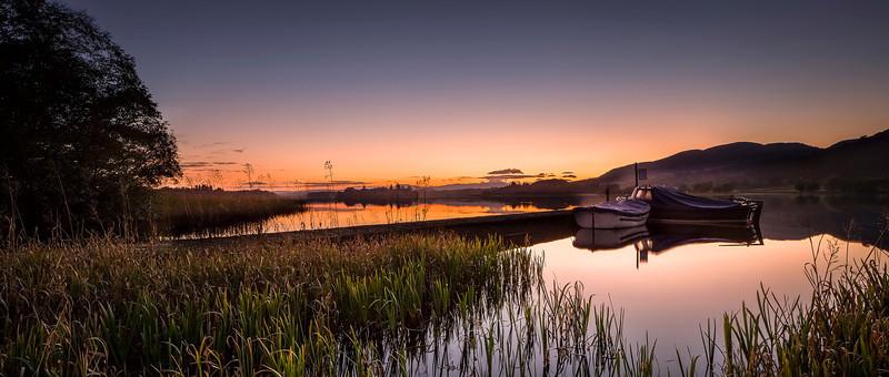 Orange Sunset, Lake of Menteith