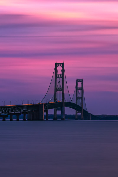 Mackinac Bridge long exposure post sunset
