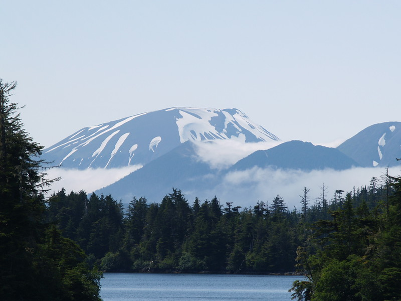 Mt. Edgecumbe as we make our way from Sitka to Juneau (2009).