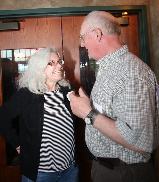 McCormick/IHC Archivist Sally J. Jacobs and author Jim Allen