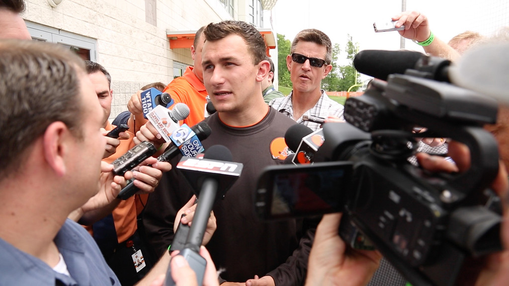 . News-Herald file Browns\' quarterback Johnny Manziel decidedly unapologetic regarding his May 25 visit to Las Vegas.