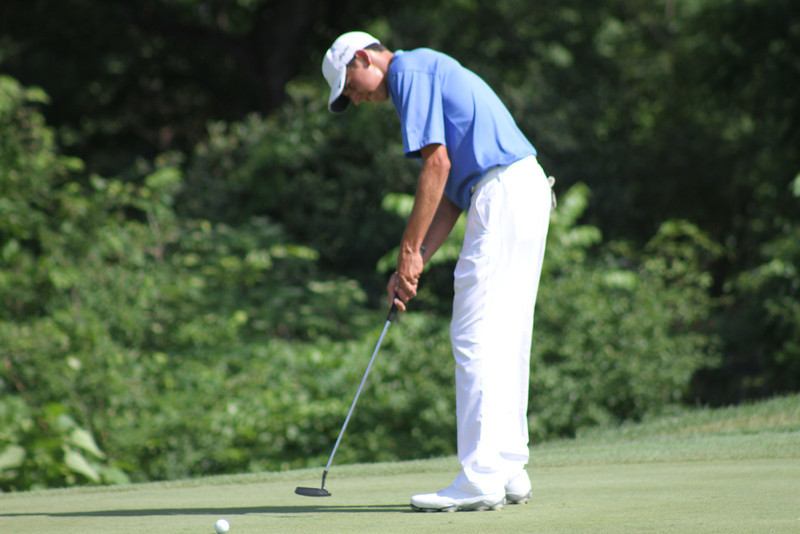 Daniel Wetterich attempts a putt during the first round of the 2014 Western Junior Championship.