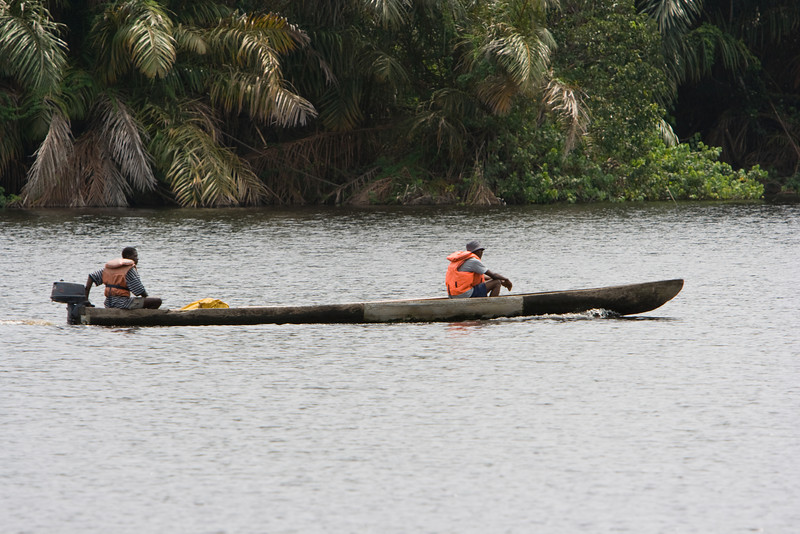 Motorised Pirogue.