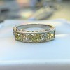 2.30ctw Fancy Yellow and White French Cut Diamond 5-Stone Band 6