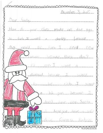 Mrs. Hamilton's 2nd grade Letters to Santa, 12/14/2015