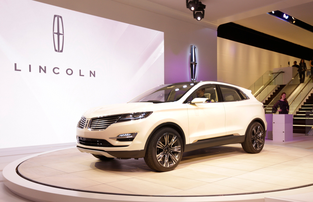 . The Lincoln MKC Concept is unveiled during the North American International Auto Show in Detroit, Monday, Jan. 14, 2013. (AP Photo/Carlos Osorio)