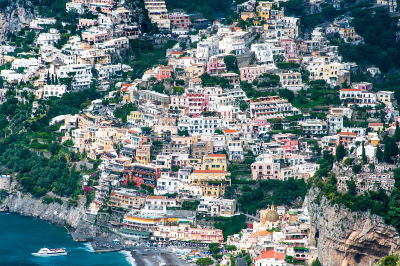 Houses and buildings along the Amalfi Coast in Italy