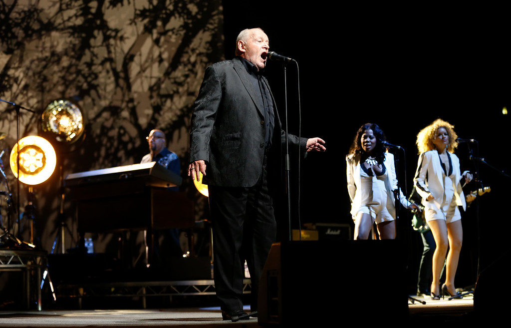 ". British singer Joe Cocker performs on stage during the ""Fire it up tour\"" concert, on April 6, 2013 in Nice, southeastern France. VALERY HACHE/AFP/Getty Images"