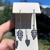 1.50ctw (est) Victorian Leaf Component Earrings 4