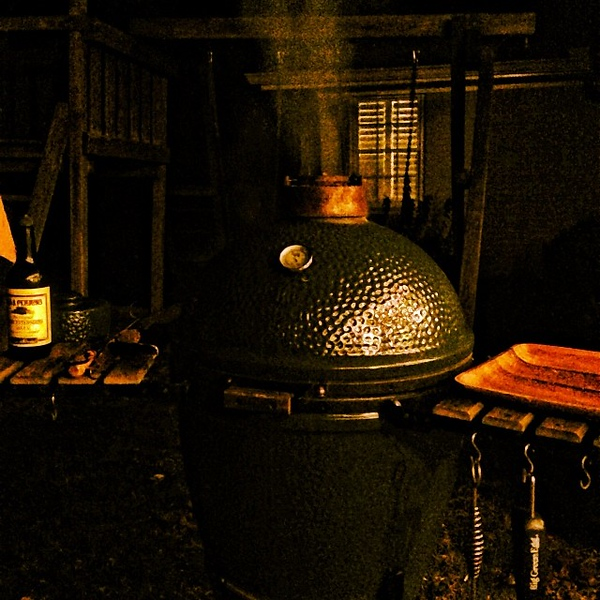 17 degrees is no match for the big green egg #bge #ribeye #cold