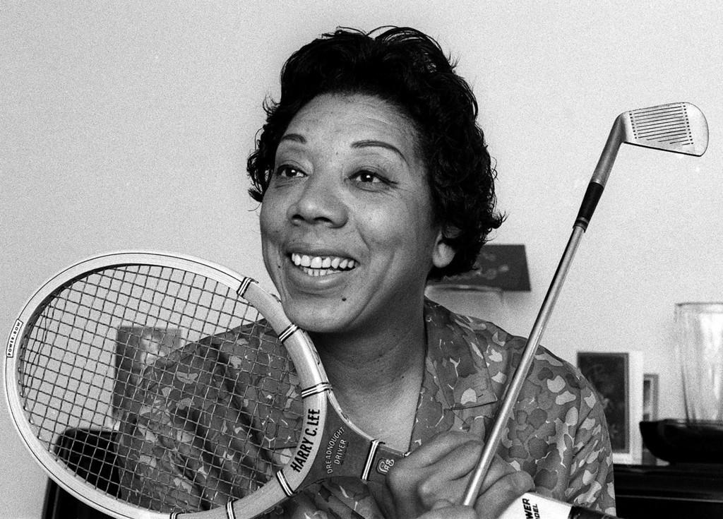 . Althea Gibson is shown in her East Orange, N.J. home in 1968.  (AP Photo/Marty Lederhandler)
