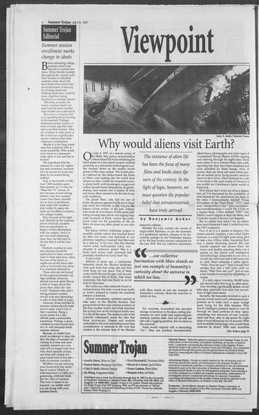 Summer Trojan, Vol. 131, No. 9, July 09, 1997