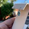 4.20ctw Blue Zircon Dangle Earrings 9