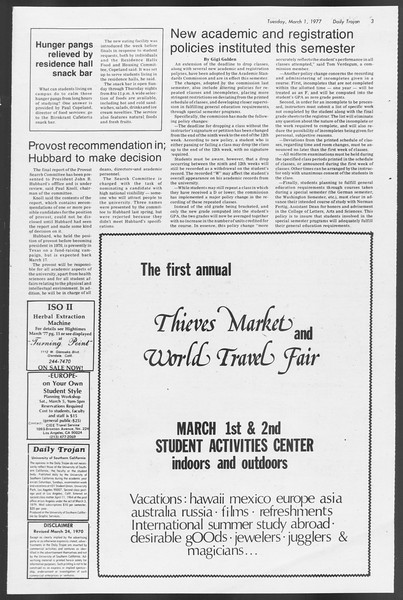 Daily Trojan, Vol. 71, No. 14, March 01, 1977