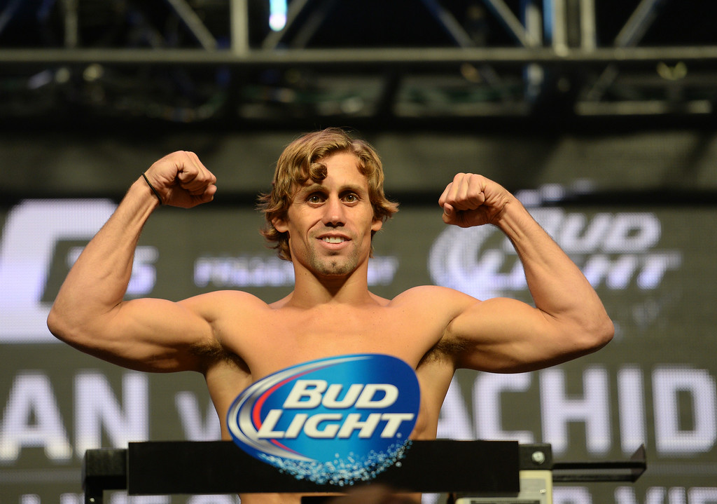 . Urijah Faber  during weigh ins for UFC 175 at the Mandalay Bay Events Center July 4, 2014. (Photo by Hans Gutknecht/Los Angeles Daily News)