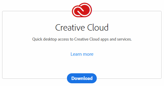 Install Creative Cloud