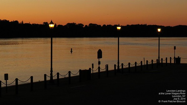 Lewiston Landings at dusk, July, 2014