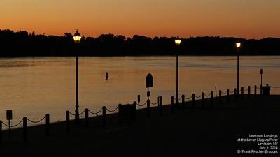 Lewiston Landings at dusk, July, 2014