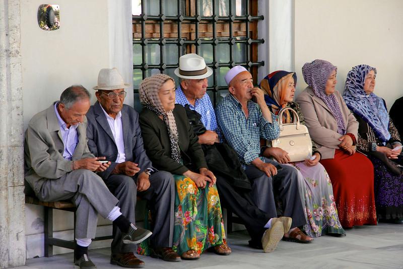 Locals at Topkapi Palace