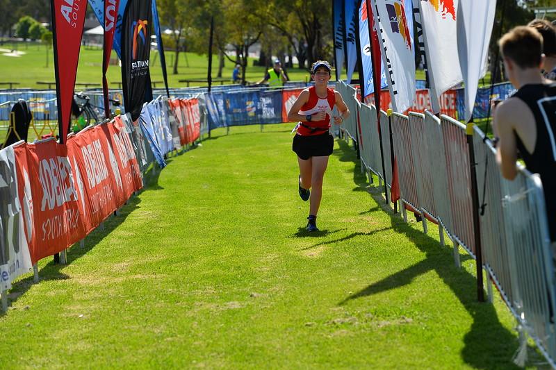 Over the finish line 2015 Murray Man Triathlon
