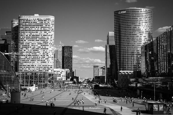 Paris La Défense, 2018 - B&W
