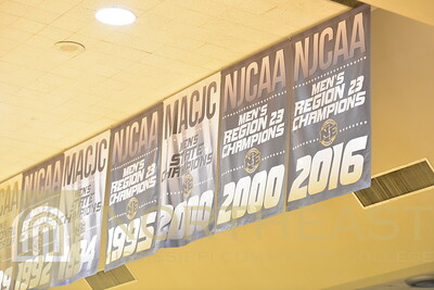 2016-11-07 FACILITIES New Banners in the Bonner Arnold Coliseum