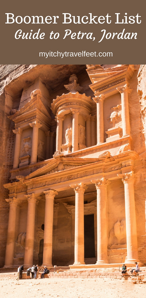 Boomer bucket list trip: Guide to Petra and other Jordanian sites. #petra #bucketlist #boomertravel #jordan