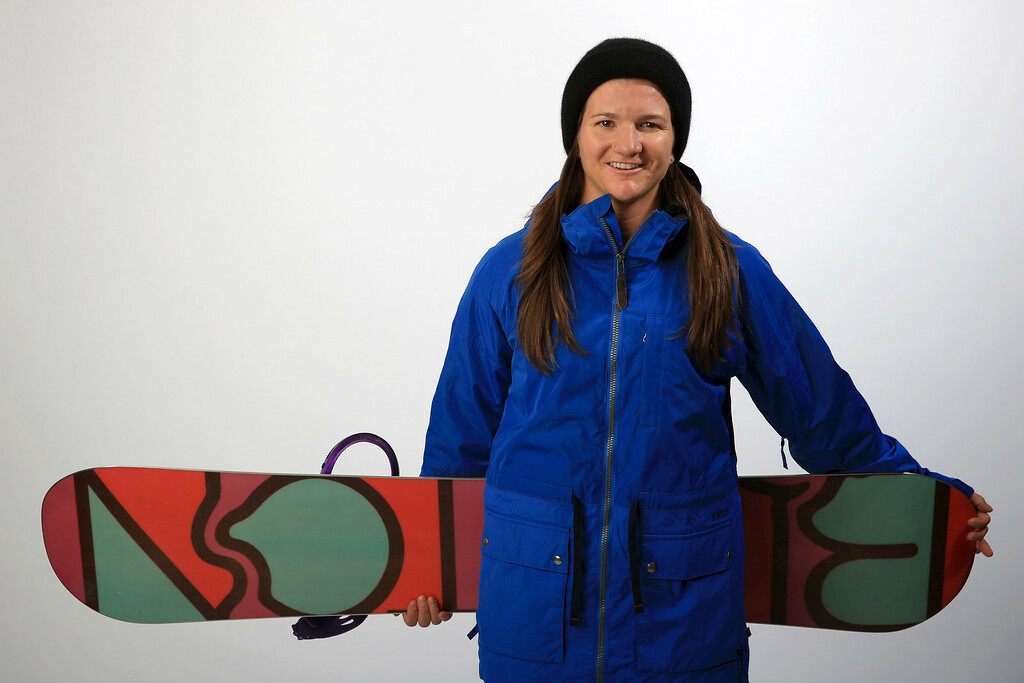 . Snowboarder Kelly Clark poses for a portrait during the USOC Media Summit ahead of the Sochi 2014 Winter Olympics on October 2, 2013 in Park City, Utah.  (Photo by Doug Pensinger/Getty Images)