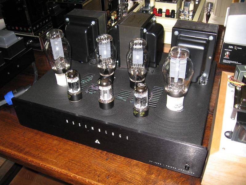 Assemblage SET-300B stereo amp.