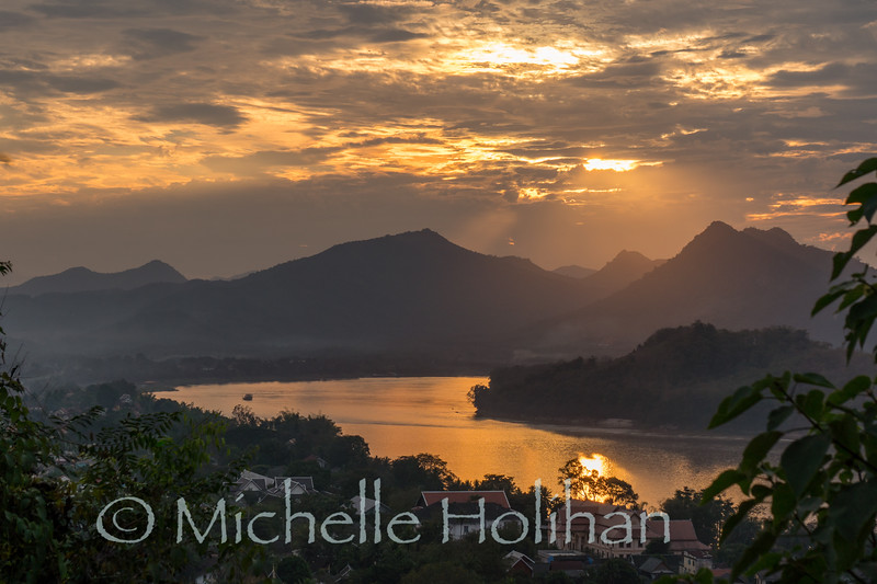 Sunset from Mt. Phousi, Luang Prabang, Laos