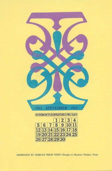 September, 1965, Morgan Press