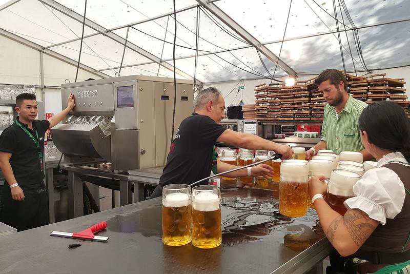 Beerjet in action